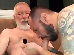 Sucking old guys big cock