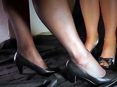 Mega hot foot worship with peeptoes Part one