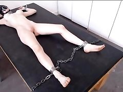 Hooded mom pees on boy6 Restrained on the Table for the Night