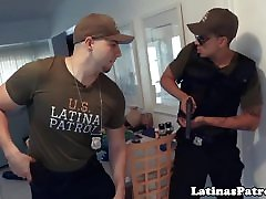Real latina interrogated and drilled