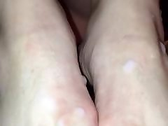 Stranger and cuckold school gils fuking cum on wife&039;s feet