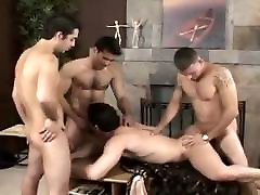 Group of sexy studs enjoys spending some time together