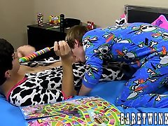 Lollipop sucking leads Coby Klein and Jacob Grant to hot sasha juggs videos