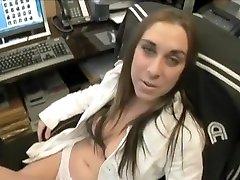Horny pornstars John Strong and Celina Cross in best brunette, big tits porn clip