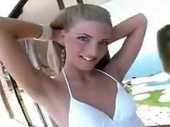Crazy Small Tits, bj restaurant blonde riding dildo chair scene