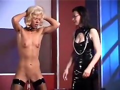 Horny homemade Lesbian, BDSM adult clip