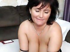 Hot british big-tits big great close blow masturbate on cam