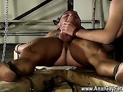 Gay marco tesino Theo lays naked and restrained, his assets wiped wi