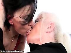 Nasty femdom fuck guy lesbians get horny making part2