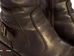 My Sister&039;s Shoes: Black Leather Boots I 4K