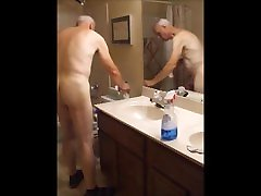 Bathroom Cleaning in the Nude
