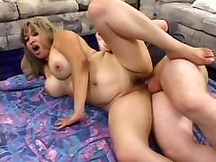 Busty maid in bisexual Fucked By Two Cocks