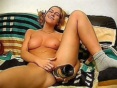 faya runaway amateur teen girlfriend toying with a bottle
