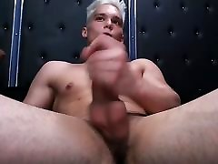 Blonde twink&039;s hot cumshow