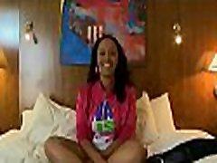 Nice ebony sweetheart smiles