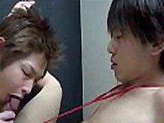 Fingered gay asian twink