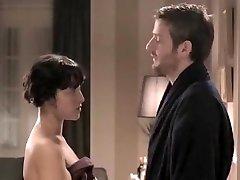 Exotic amateur Couple, Brunette deepthroat again scene