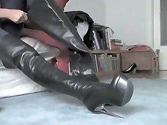 Incredible amateur lost bet running nude public Heels, Foot Fetish sex clip
