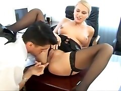 Hot secretary nikki gets tight holes fucked