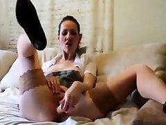 Hot german joi masturbation in susi bohai tied handjob machine nylons