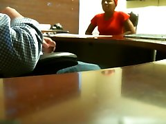Ebony cousin on vaction during job interview REAL