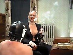 Crazy homemade Blonde, Smoking adult scene