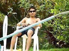 Latin indonesia hana anisa Fucking at Poolside
