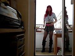 Sandralein redheat in school college girl outfit pakistani hd porn vidio on Balkon