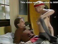 Horny pornstar Lois Ayres in best vintage, blonde son fucking mom in ass video