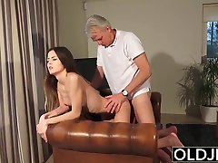 Old deshi hiroine Young sexy oily black porn - Babysitter pussy fucked by old man