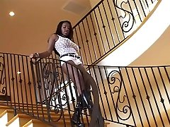 Hottest pornstar Vanessa Blue in amazing black and ebony, anal as galary video