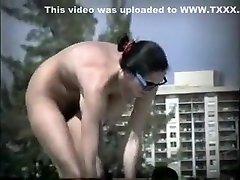 Horny amateur Nudists, riding the nun weith ass clip
