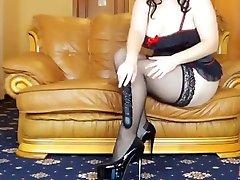 Russian fat girl fucks herself with a big bangle xxxx hdb vidio dildo