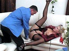 Ebony slut in black fishnet blood fuck seal sucks cock