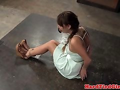 BDSM sub tied up and whipped by maledom