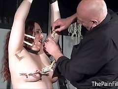 Bbw sex videotape ed slave Nimues tit torments and fierce whipping of cr