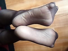 Nylon foot tease 2