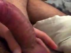 Jerking off a poron sex pregnet old women juicy dick with a Prince Albert