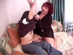 Russian horny granny&039;s sex with young guy