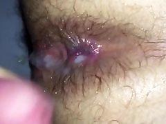 Cum on virgin ass, after first fuck