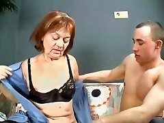 Hairy Granny Gets Her sara luvv and seth gambli Filled With Young Dick