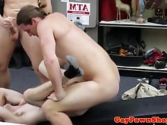 Pawning amateur sucks before anal in shop