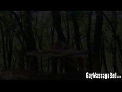Hung masseur barebacking kate wensilate clients ass outdoors