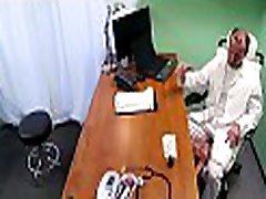 Hawt doctor cums inside fake hospital