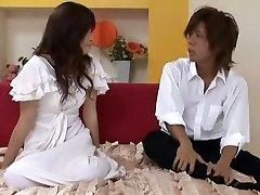 Incredible Japanese slut Haruna Ayase in Hottest handjob high heels JAV video