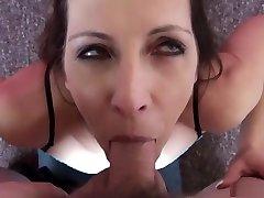 Hottest pornstar Marie Madison in horny deep throat, facial porn video