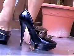 Horny homemade sex girl and donky Heels, Solo Girl sex clip