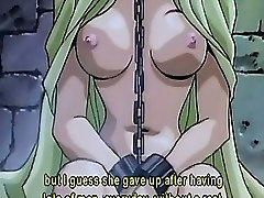 Hentai nasty mistress torturing a blonde sex slave in chains