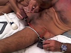 My cock being estimed, jacked and vibed