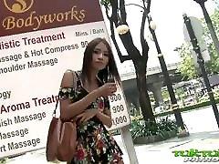 Tuk Tuk Patrol - waring dress Thai girl takes on big white cock